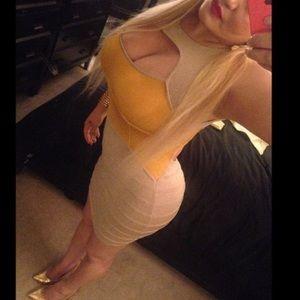 Gold Bandage Sexy dress large
